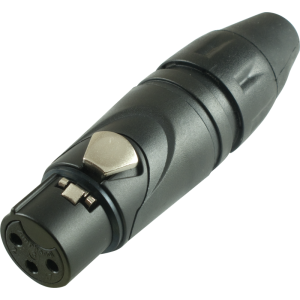 XLR Plug - Amphenol, Female, Black, Gold-Plated
