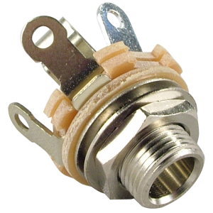 "1/4"" Mono 2-Conductor Input Jack, Type 12A, Switchcraft"