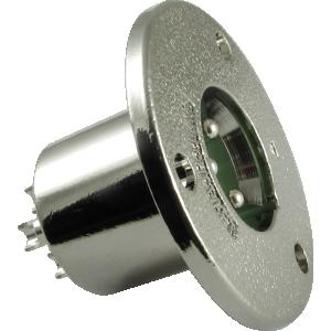 XLR 3-Pin Male Circular Panel Mount Receptacle (Type C3M), Switchcraft