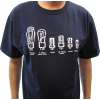 Shirt - Blue with Tube Shapes image 2