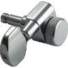 Machine Head - Kluson, 3+3, Locking, Large Metal Button image 1