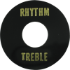 Switchwashers - Rhythm/Treble, Gold Lettering, for Les Paul image 2