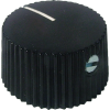 Knob - Black w/ White Line, Set Screw image 1
