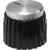 Knob - Black, Cap, Mini Marshall Style image 2