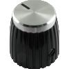 Knob - Black w/ Cap, Set Screw, for Marshall image 2