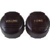 Knob - Vintage Radio, 1 Volume, 1 Tone, Push-On image 2