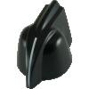 Knob - Chicken Head, mini, high-quality, brass insert, Set Screw image 1