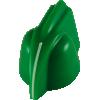 Knob - Chicken Head, mini, high-quality, brass insert, Set Screw image 3