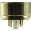 "Tube Base - 8 Pin, Gold Coated Pins, 1.57"" diameter image 1"
