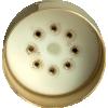 "Tube Base - 8 Pin, Gold Coated Pins, 1.57"" diameter image 2"