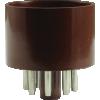 Tube Base - 8 Pin, Octal, Brown image 1
