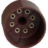 Tube Base - 8 Pin, Octal, Brown image 2