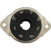 Socket - 8 Pin Octal, Saddle Plate, Black, Bottom Mount image 3