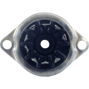 Socket - 9 Pin, Miniature, Bakelite, Bottom Mount Ring image 3