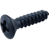 "Screw - #4 x ½"", Oval Head, Sheet Metal, Black Oxide image 1"