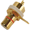 RCA Jack - Chassis Mount, Rear Mount, Gold Plated image 2
