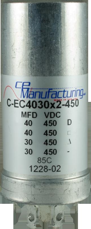 Capacitor Ce Mfg 450v 40 40 30 30 181 F Electrolytic