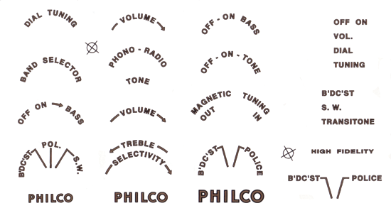 Decal Philco Antique Electronic Supply